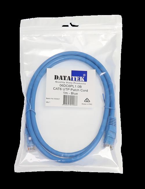 Datatek 1 Metre CAT6 UTP Patch Lead