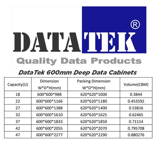 Datatek 32U 600mm Deep Data Cabinet - FPS Series