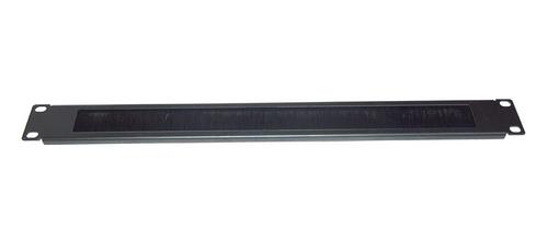 Datatek 1U Cable Pass Through with Brush Strip