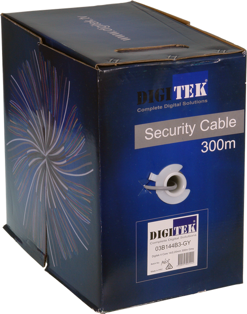 Digitek 4 Core 14 Stand/0.20mm Securty Cable 300M Box - Grey