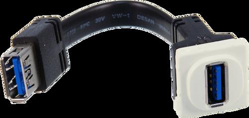 Digitek USB Female to USB Female Insert - Flexible Tail