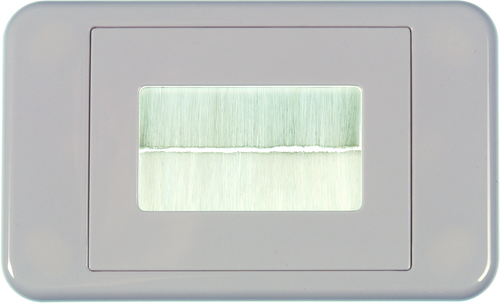 Digitek Media Style Wallplate (Flat) - White