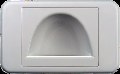Digitek Media Style Wall Plate (Reverse Bullnose) - White