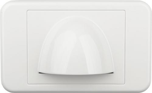 Digitek Media Style Wall Plate (Slim Bullnose) - White
