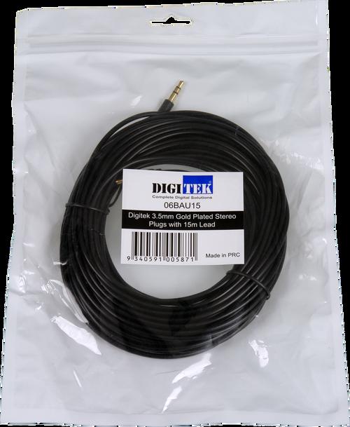 Digitek 3.5mm Male To Male Audio Lead - 15M