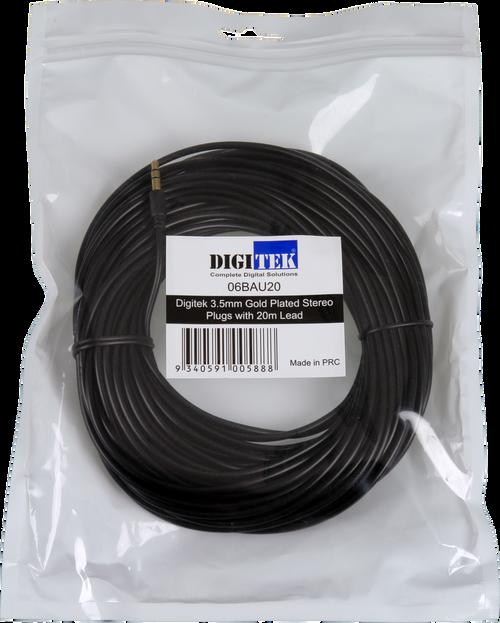 Digitek 3.5mm Male To Male Audio Lead - 20M