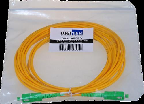 Digitek Optical Fiber Simplex SC-APC to SC-APC Patch Lead - 5M