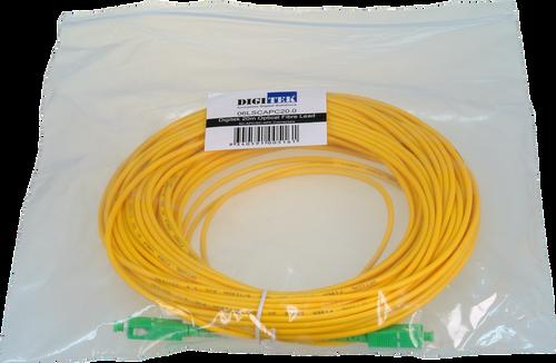 Digitek Optical Fiber Simplex SC-APC to SC-APC Patch Lead - 20M