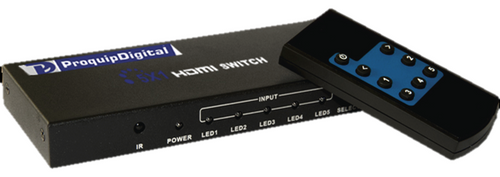 ProquipDigital 5 in 1 Out HDMI Switch with IR Remote Control