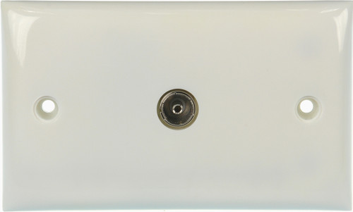 Wallplate Single Pal Outlet - Saddle & Screw