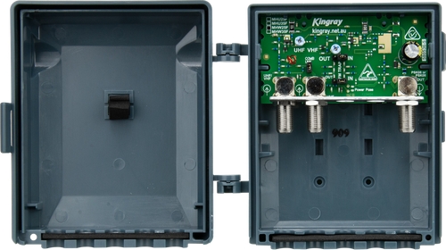 Kingray MHW25F 25dB Wideband Masthead Amplifier, Separate or Combined input with LTE filter