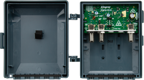 Kingray MHW35F 35dB Wideband Masthead Amplifier, Separate or Combined Input With LTE Filter