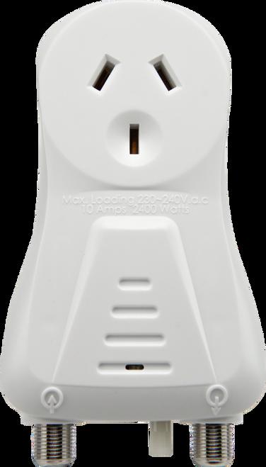Kingray KDA20 20dB Distribution Amplifier, Plug into Mains Power, Single input/output F-Type connectors, 44-860MHz