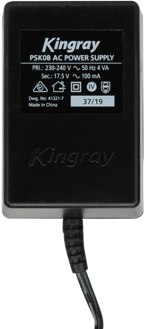 Kingray PSK08 17.5V AC 100mA  Plug Pack with Belling Lee (PAL) connection on power injector