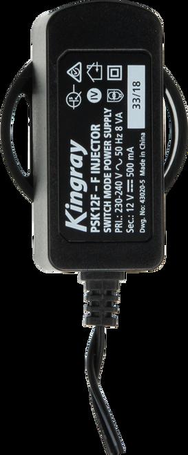 Kingray PSK12F 12V DC 500mA Plug Pack with F-Type power inserter