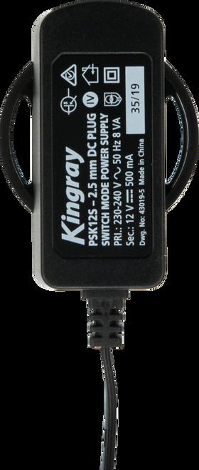 Kingray PSK12S 12V DC 500mA Plug Pack with 2.5mm plug socket