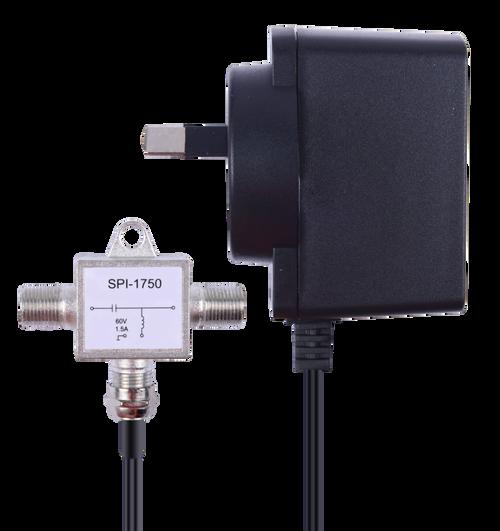 Kingray PSK18F 18V DC 500mA Plug Pack with F Type power inserter