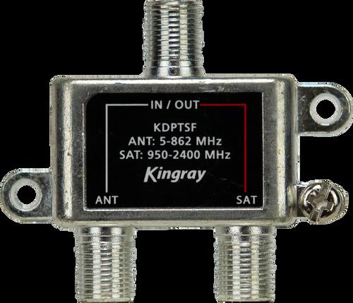 Kingray KDPTSF Free-To-Air/Satellite Diplexer - 5~862/950~2400MHz