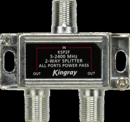 Kingray KSP2F 2 Way All Ports Power Pass Splitter, 5-2400 MHz