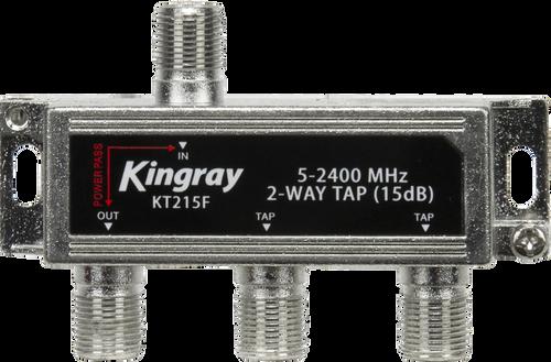 Kingray KT215F 2 Way 15dB Tap, Power Pass Through Port, 5-2400 MHz