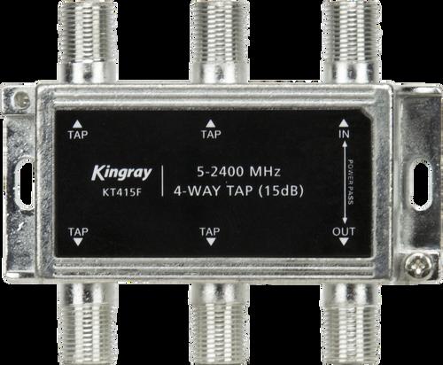 Kingray 4 Way 15dB Tap, Power Pass Through Port, 5-2400 MHz