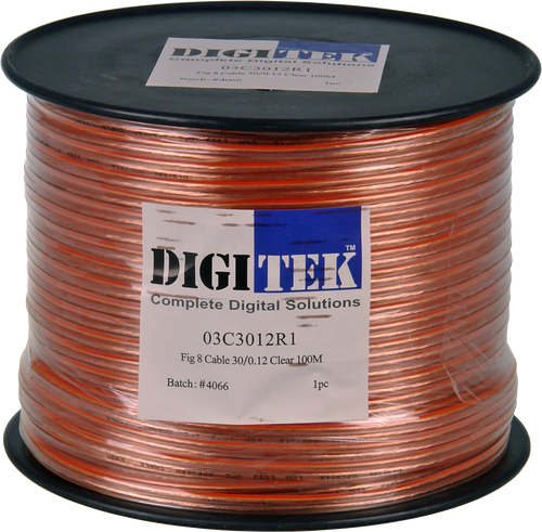 Digitek 30 Strand Figure 8 Speaker Cable - 100m Reel