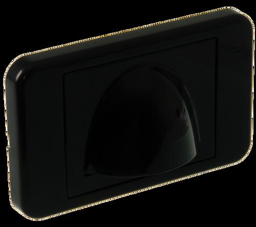 Digitek Media Style Wall Plate (Slim Bullnose) - Black