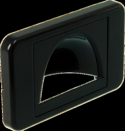 Digitek Media Style Wall Plate (Reverse Bullnose) - Black