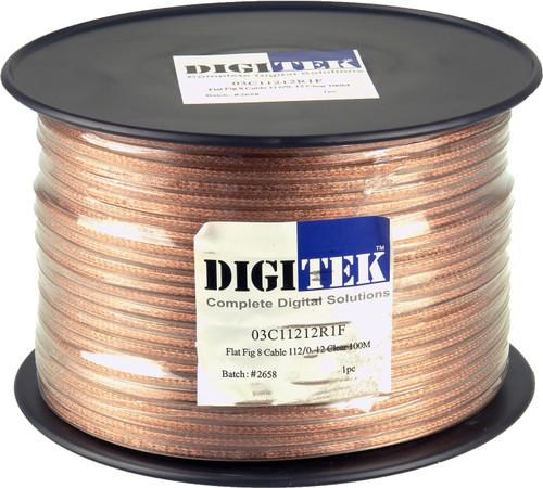 Digitek 112 Strand/0.12mm Clear Jacket Speaker Cable 100m Reel - AWG16