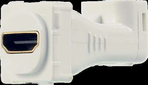 Digitek HDMI Female to HDMI Female Right Angle 4K@60Hz Insert - White