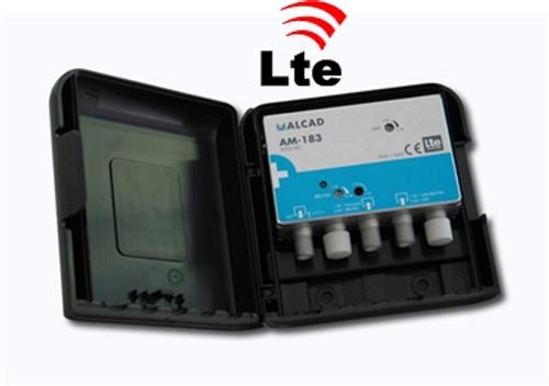 Alcad AM-183 LTE Compliant 24dB UHF/VHF Mast Head Amplifier