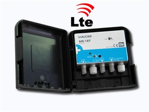 Alcad AM-187 LTE Compliant 34dB UHF/VHF Mast Head Amplifier