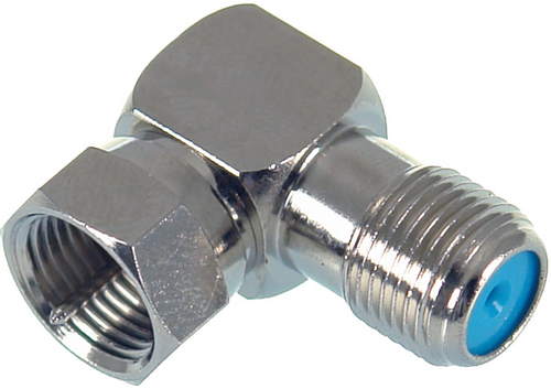 Digitek F Type Male to F Type Female Right Angle Adaptor - 3GHz