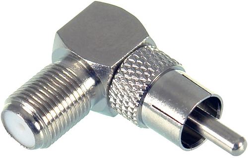 Digitek RCA Male to F Female Right Angle Adaptor