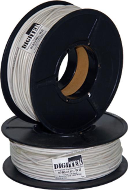 Digitek 4 Core 14/0.20mm Security Cable 100M Reel - White
