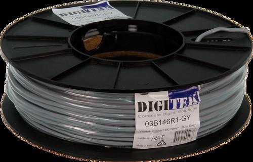 Digitek 6 Core 14/0.20mm Security Cable 100m Reel - Grey