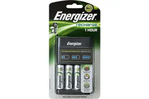 Energizer 1 Hour AA & AAA Charger - Includes 4 x AA Batteries