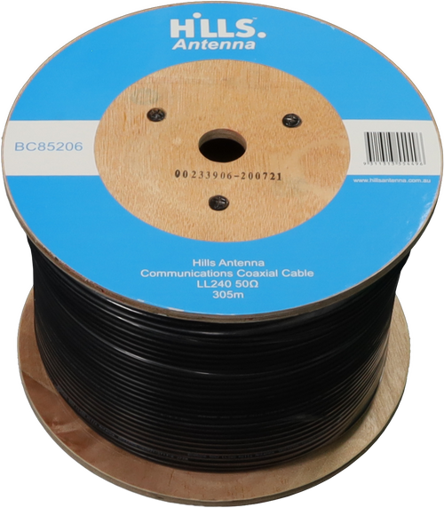 Hills High Quality 50 Ohm LL240/LMR240 Low Loss Coaxial Cable 305M Roll