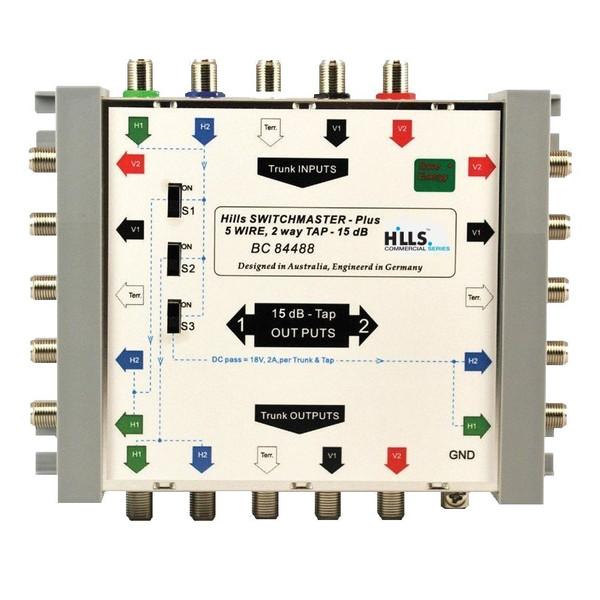 Hills BC84488 5-Wire, 2-Way 15dB Tap