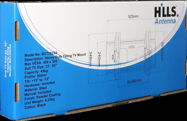 "Hills BC73525A Heavy Duty Tilting TV Mount - 23 - 55"""