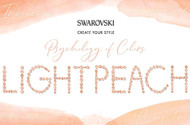 Light Peach, Swarovski's Psychology of Colors Hue for January ~