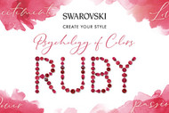 Ruby, Swarovski's Psychology of Colors Hue for December ~
