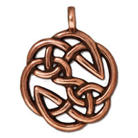Open Knot Pendant, Antiqued Copper Plate, 10 per Pack