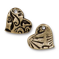 Amor Charm, Oxidized Brass Plate, 20 per Pack