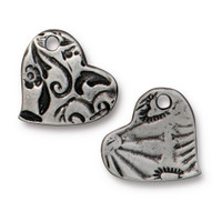 Amor Charm, Antiqued Pewter, 20 per Pack