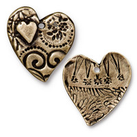 Amor Pendant, Oxidized Brass Plate, 10 per Pack