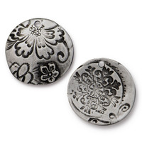 Flora Pendant, Antiqued Pewter, 10 per Pack