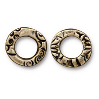Flora Ring Small, Oxidized Brass Plate, 20 per Pack