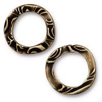 Flora Ring Medium, Oxidized Brass Plate, 20 per Pack