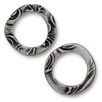 Flora Ring Medium, Antiqued Pewter, 20 per Pack